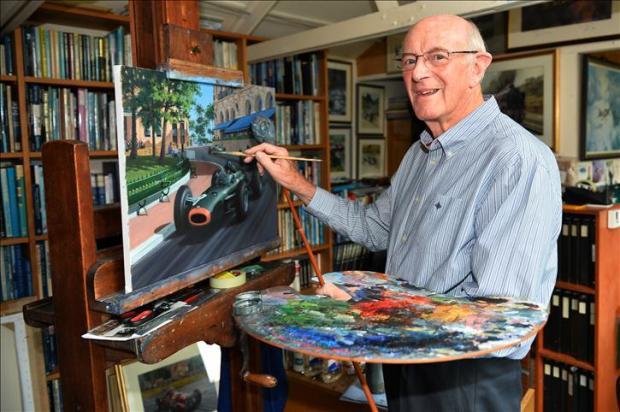 Michael Turner Gallery Visit, Chesham, England, 11 September 2013.